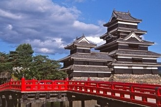 View of Matsumoto Castle during AEON's vacations and holidays