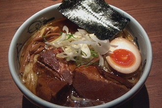Picture of tonkotsu ramen which is a specialty dish in the Kyushu region