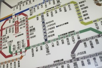 Picture of a train map that is helpful for everyday life in Japan