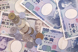 Picture of various Japanese yen you would use while living in Japan