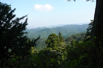 Mount Takao Summit Overlooking Beautiful Green Fields