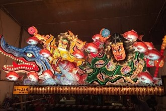 Photo of the famous Nebuta Festival in Aomori City, Aomori Japan