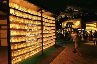 Photo of a shrine in Ichihara Goi with lanterns