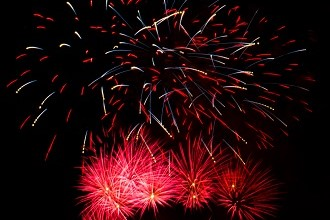 Photo of fireworks in Fukuoka