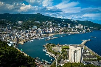 Aerial picture of Shizuoka city